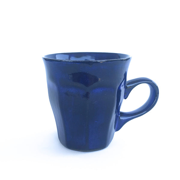 handmade ceramic navy colour tea and coffee cup at hippist