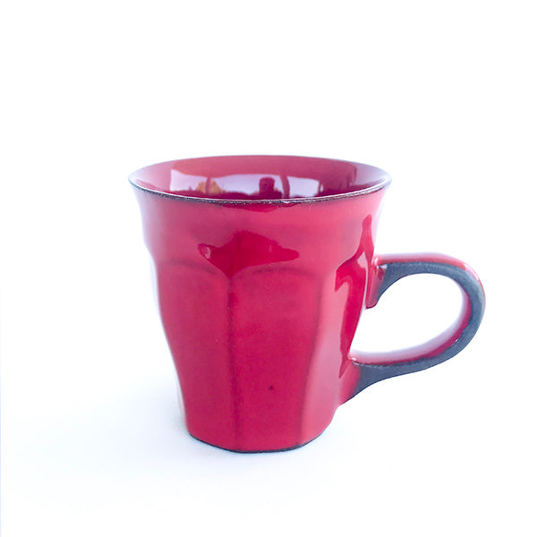 handmade ceramic red colour tea and coffee cup at hippist