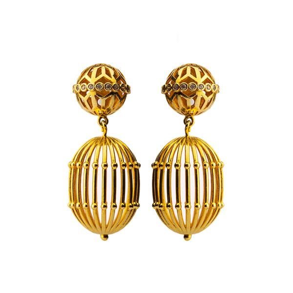 Cage Earrings Jewellery Mtoy