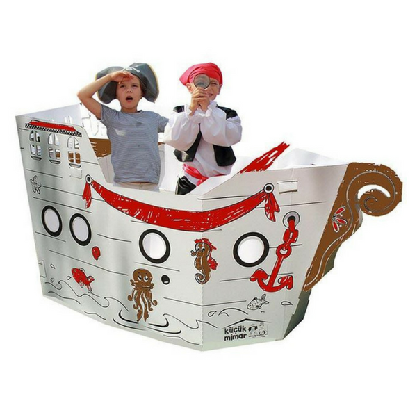 cardboard pirate ship X-Large playhouses at hippist.co.uk