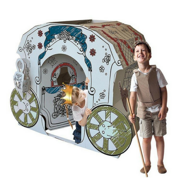 Cardboard Princess Carriage X-Large