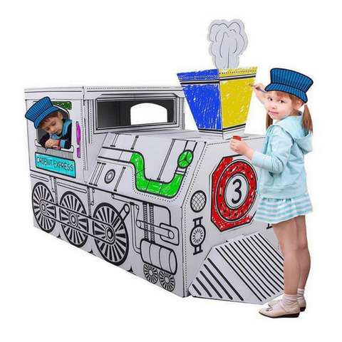 Colour Your Own Cardboard X-Large Princess Carriage