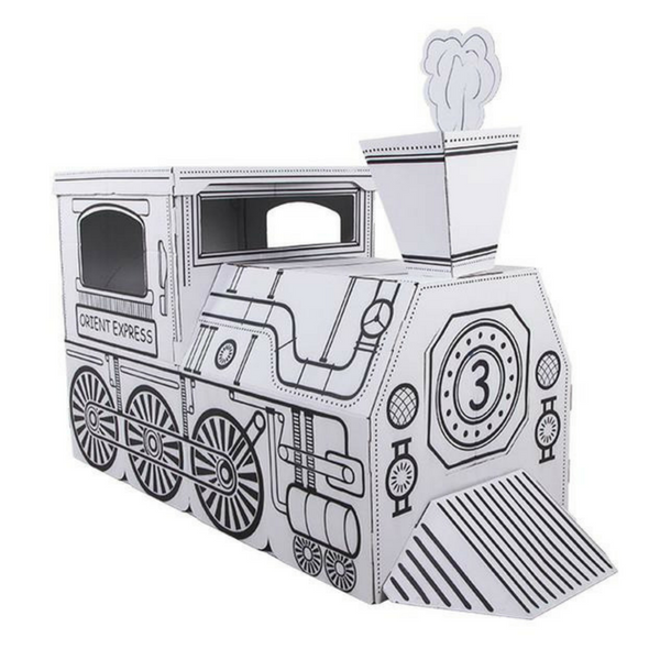 Cardboard Train X-Large - hippist.co.uk