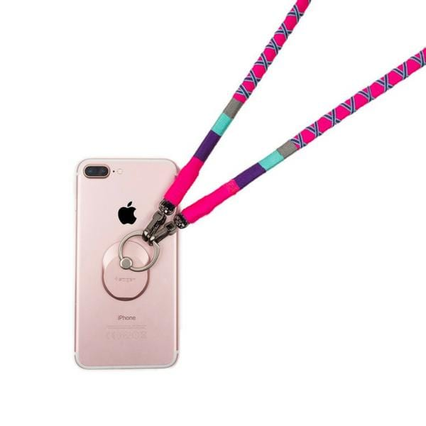 handmade colourful cross phone strap