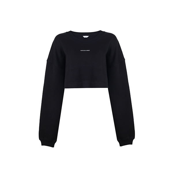 Céline Crop Sweatshirt | Black