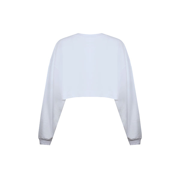 Céline Crop Sweatshirt | White