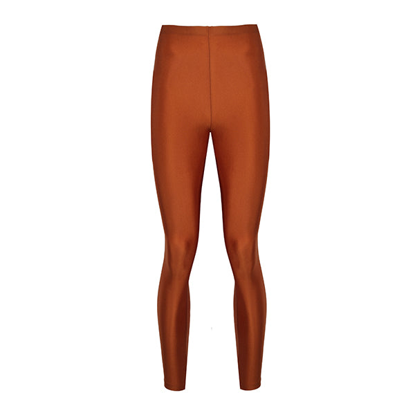 cinnamon diamond coloured shiny legging innovative body shaping with total comfort