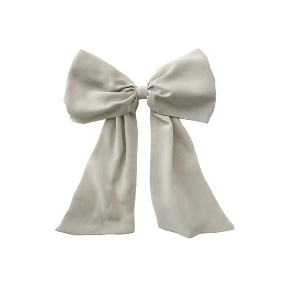Der-liebling & Darwin's Botanicals Silk Hair Ribbon | Cloud Grey