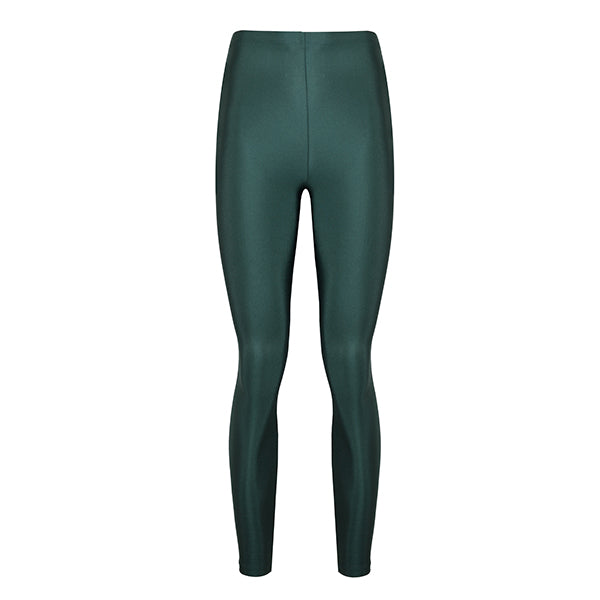 cool emerald coloured shiny legging innovative body shaping with total comfort