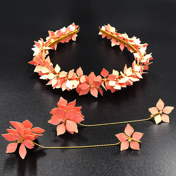Coral Mine Tiara & Detachable Earrings