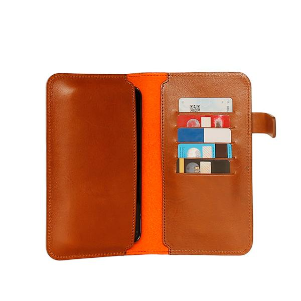 Multi functional %100 vegetable tanned leather case for smartphones, credit cards, passports and much more.