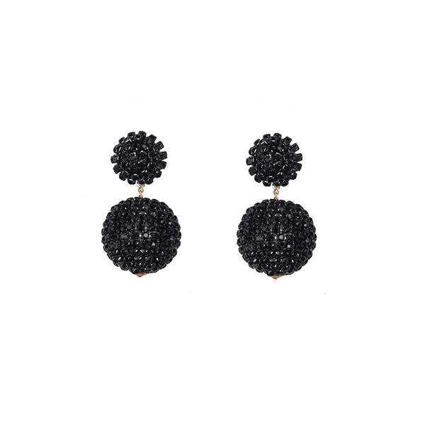 Dahlia Disco Earrings | Black Stone