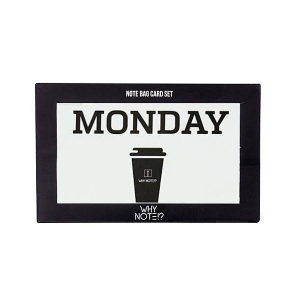 why note!? branded day card monday