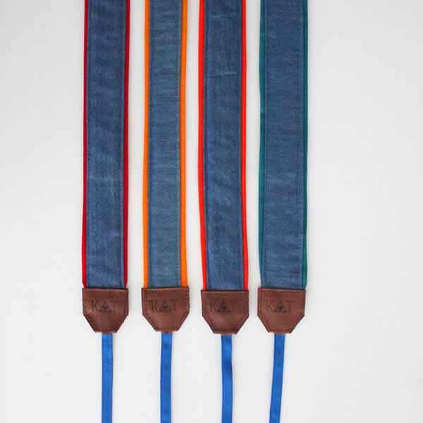 handcrafted camera and musical instrument denim straps