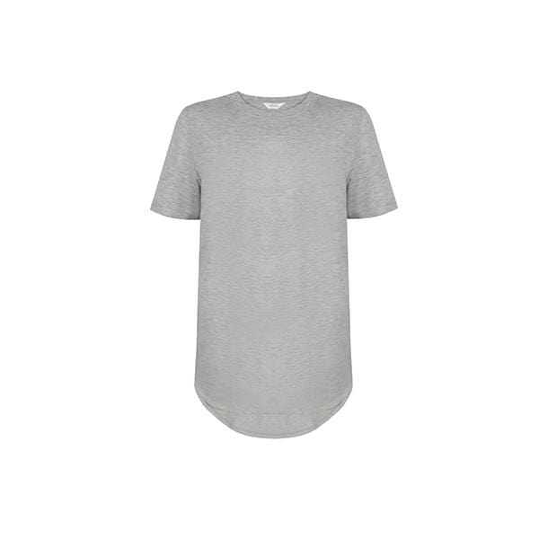 Silky touch crew neck grey basic t-shirt