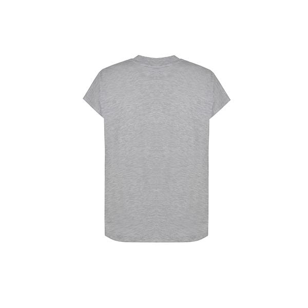 Silky touch mock neck grey basic t-shirt