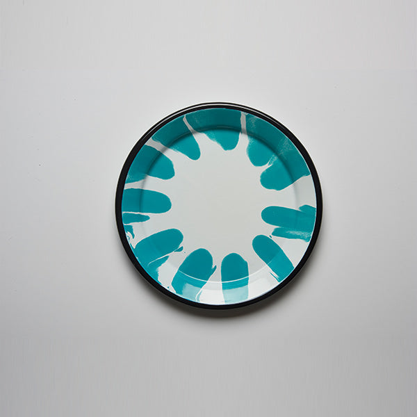 A Little Color Enamel Dinner Plate | Turquoise