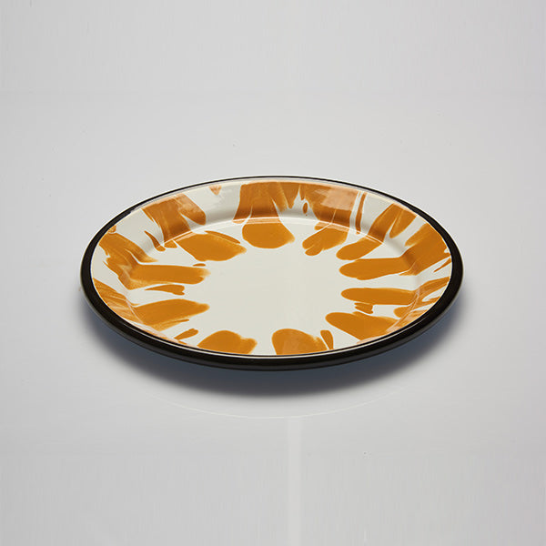 24.5 x 2.5 cm, Yellow Color Enamel Dinner Plate