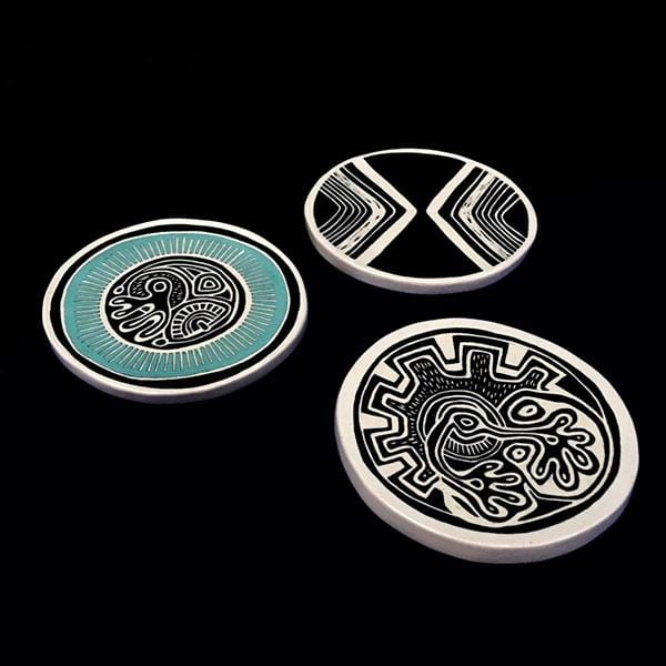 Discordian 10 | Ceramic Plates | Set of 3