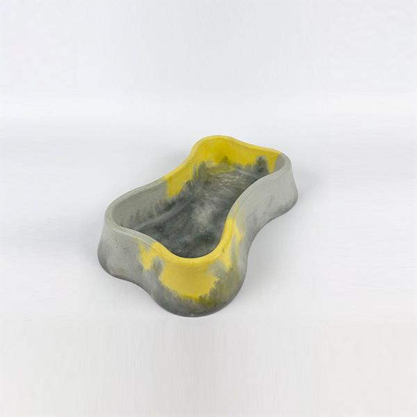 Dog Bowl Big | Concrete | Grey