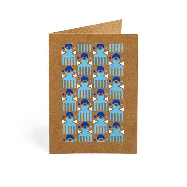 Duafe Hand Screen Printed Greeting Card Set | Set of 4