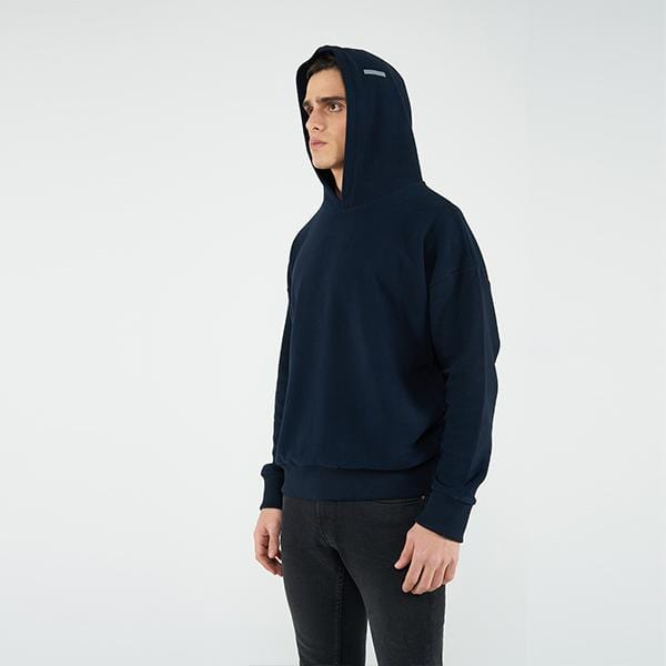 Reflect Studio Navy Colour Oversized Fit Basic Unisex Hoodie at hippist.co.uk
