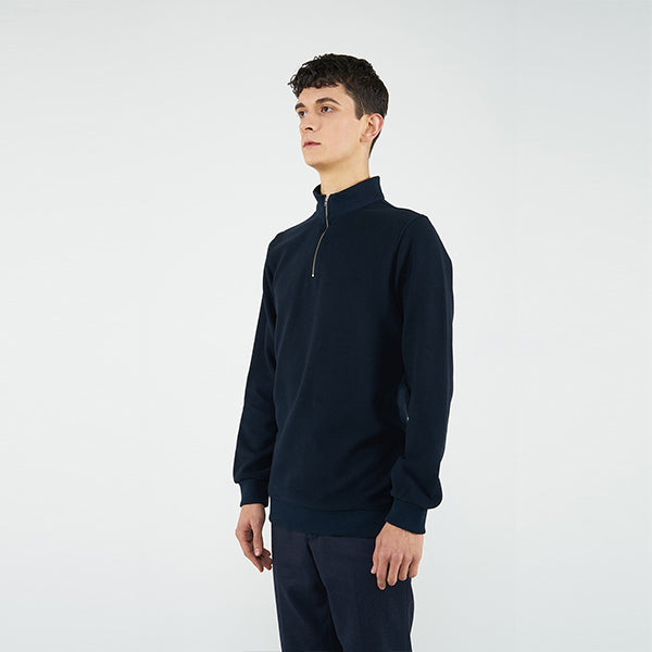 Reflect Studio Classic Fit Basic Unisex Sweatshirt with Quatrer Zip Valentina  Called Story Collection at hippist.co.uk