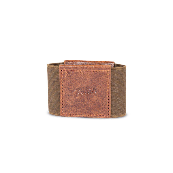 antique brown minimalist wallet