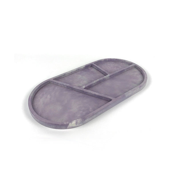 Ellipse Big Tray | Concrete | Purple