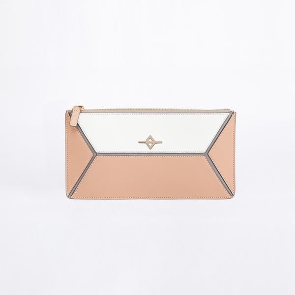 Envo Clutch Bag | Beige & White