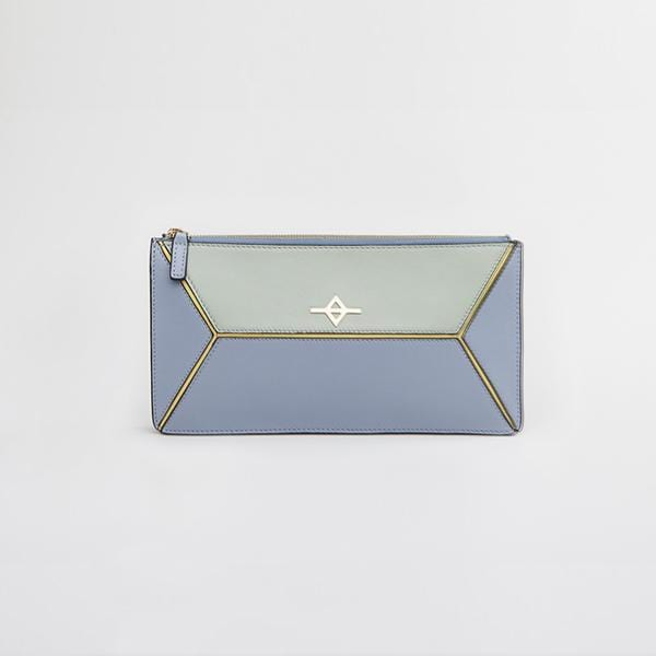 Envo Clutch Bag | Blue & Green