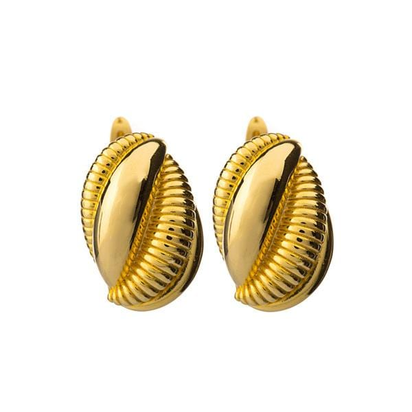 Gold plated bronze Escargot earrings