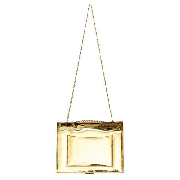 why note!?  gold mirror notebook bag