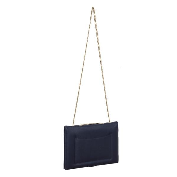why note!? navy and orange notebook bag