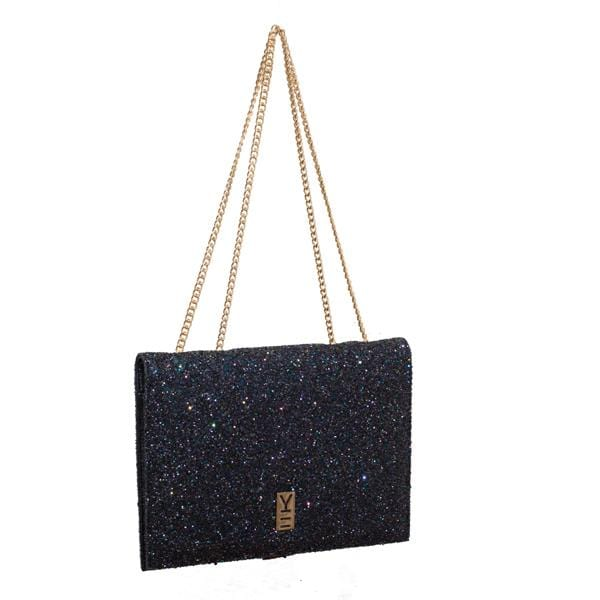why note!? navy and glitter notebook bag
