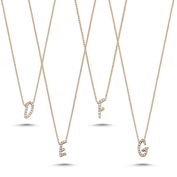 Initials Full Diamond Necklace | A to Z