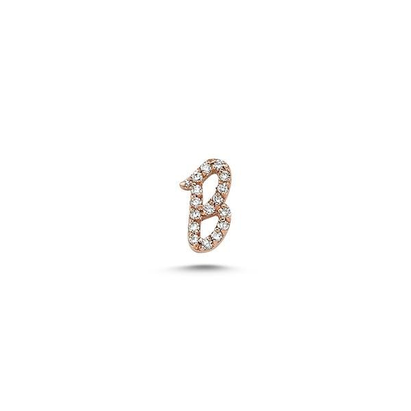 Initials Full Diamond Single Earring | A to Z