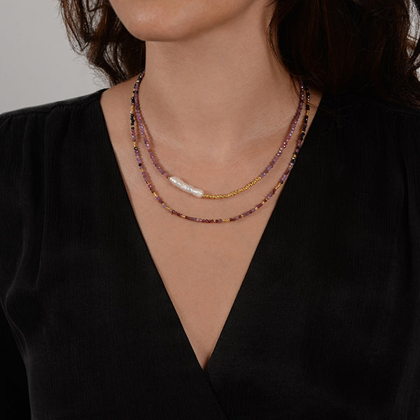 gabrielle astrea natural stone natural pearl necklace