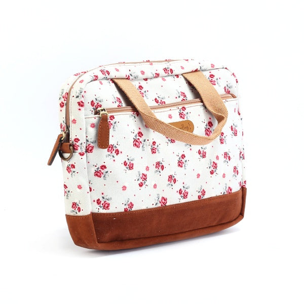 "13"" laptop bag with flower prints"