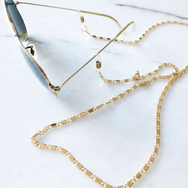 Glitz Gold Plated Eyeglass Chain