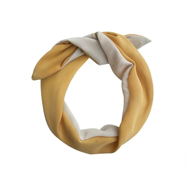 Darwin's botanicals branded gold cream colour hand dyed silk headband at hippist