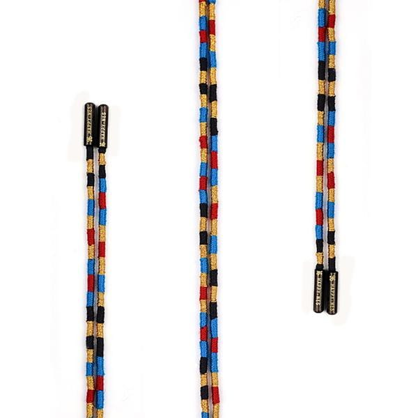 colourful handmade happy-nes branded shoe laces