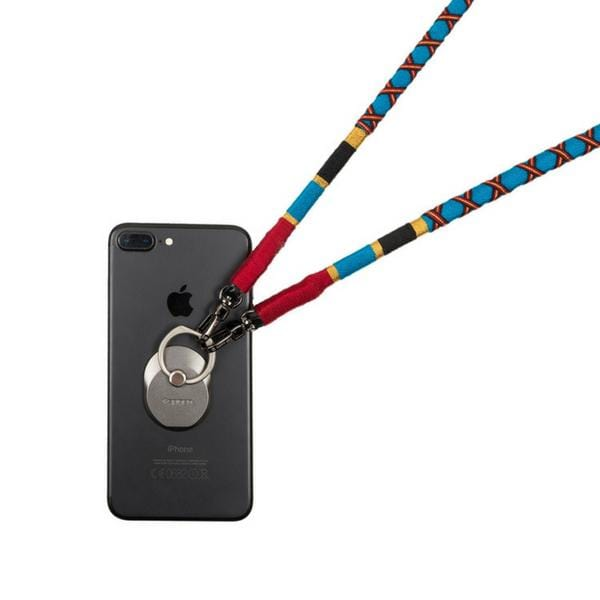 colourful happy-nes branded cross camera strap