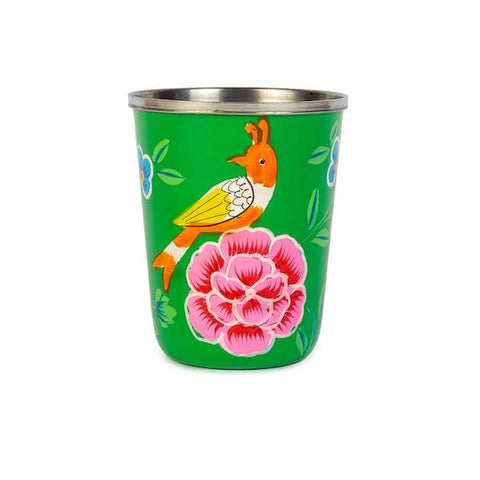 Small Enamel Tumbler | Orange Bird