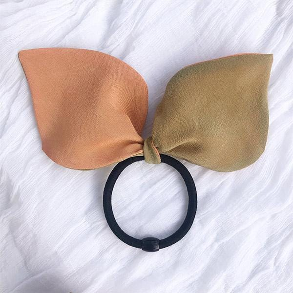 Luxury crepe 100% silk ponytail holder