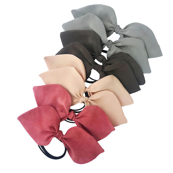 Luxury crepe 100% silk ponytail holders
