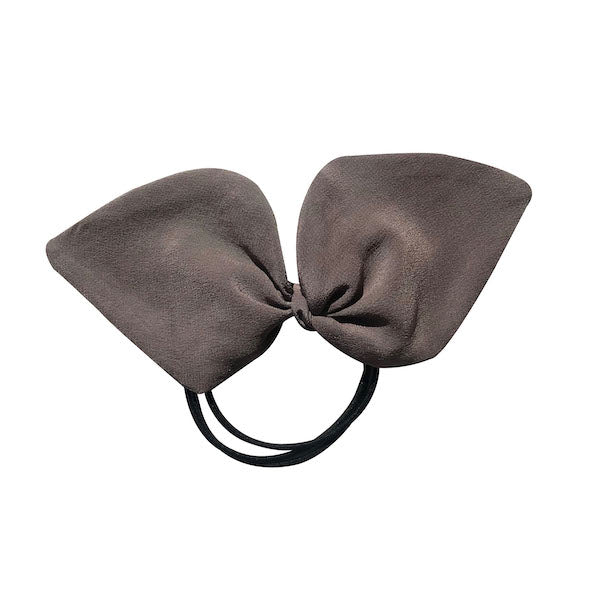 Luxury crepe purple colour 100% silk ponytail holder