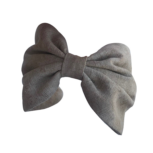 Luxury 100% beige colour linen headband, hand dyed with colours extracted from plants