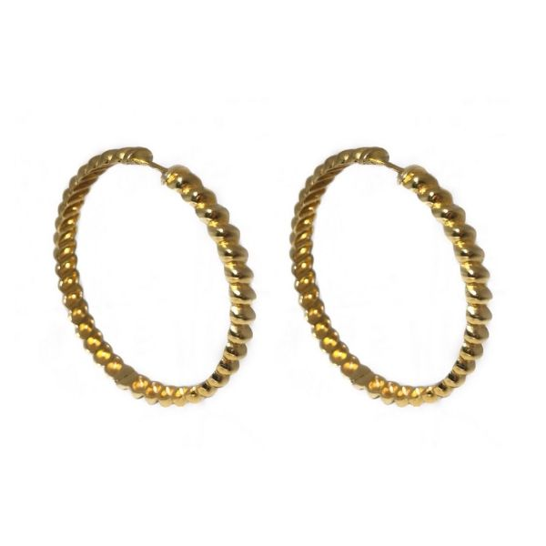 gold plated twist bronze earrings