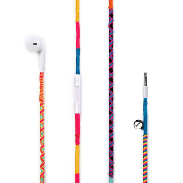 Colourful Happy-Nes earphones designed on Original Apple 6 earphones